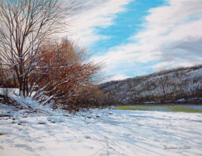 Allegheny River, Light Snow by Michael Wheeler