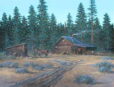 Hunting Cabin by Gene Speck