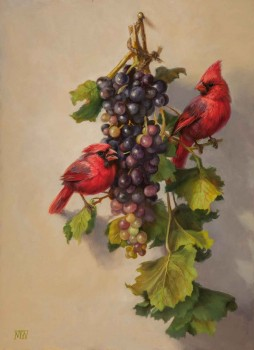 Cardinals and Grapes by Mary Kay  West
