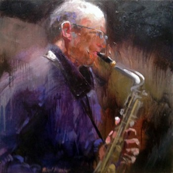 The Sax Player by Robert  Brasher